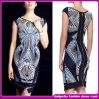 2014 forma Style Sexy Long Sleeve Plaid Bandage Dress/Spandex Tight Dress para Woman Design