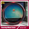Microfiberの革シンプルな設計車のハンドルカバー