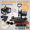 6 multifonctionnels dans 1 machine de presse de la chaleur de peigne