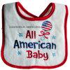 昇進のカスタム綿の白い刺繍の赤ん坊の摩耗の袖なしの胸当て