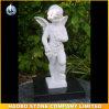 Escultura de anjo de pedreiro de pedra esculpida à mão