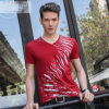 T-shirt do costume Cotton/Polyester Printed para Men (M017)