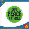 La divisa del botón del estaño de la publicidad de la paz como recuerdo