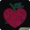 魅力的で赤いAppleのモチーフのラインストーンの移動の鉄