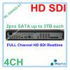 3tb까지 Onvif HD Sdi DVR 4CH CCTV DVR 기록병 지원 4 채널 1080P Sdi CCTV 사진기 연결관 2PCS SATA 각각, Ml 9204xd E1