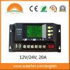 (HM-20A) 12V / 24V 20A LCD controlador solar para la fuente de alimentación solar