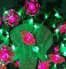 Decoração bonita das cores da lanterna elétrica do diodo emissor de luz luz de suspensão da cesta da flor da vária