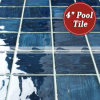Azulejos ondulados azules de la piscina de la porcelana de Bluwhale 95X95m m (BCP005)