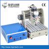 Gravando a mini máquina do CNC que anuncia o router do CNC da estaca