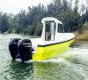 Tipo externo barcos do motor da certificação do CE da fibra de vidro para a pesca