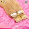 Extensões extraídas dobro do cabelo da fita da pele do cabelo reto da alta qualidade