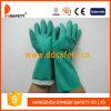 Перчатка зеленой перчатки безопасности перчаток индустрии нитрила работая (DHL445)