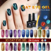 Color Nail Gel Polish 24 Colors Nail UV Polish Cat 떨어져 #51023c Nail Art Design Newest LED와 UV Soak