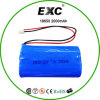 Bloco da bateria do Li-íon 2000mAh 7.2V 18650 da parte superior lisa