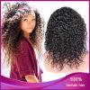 1b# Deep CurlyブラジルのVirgin Human Hair Full Lace Wig