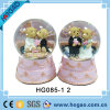 Глобус снежка венчания Polyresin с нот (HG159)