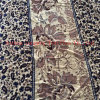 Terciopelo de seda impreso en modelo de flor