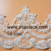 1.4m Factory Bridal Lace Trim con Handmade Beads e Pearls Lace Trim in Lace per Decorative Vb-0094bc