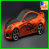 Decoration를 위한 Customed Full Color Printed Car Sticker