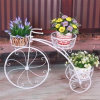 Plantador de flor de bicicleta para decoração de casa e jardim
