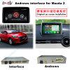 La surface adjacente visuelle de navigation androïde automatique des multimédia HD GPS pour Mazda 2014-2016 2 supportent Bt/WiFi