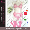 女性のCupless Lace Bra Garter BeltおよびThong Set (DY01-019c)