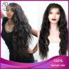 Peluca llena del cordón de la Virgen del pelo humano de la onda floja brasileña del negro