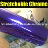 Película púrpura del vinilo del espejo del cromo