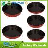 別のサイズの赤い円形の焦げ付き防止のベーキング型のケーキの焼き皿