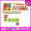 2015 новое и популярное деревянное домино для малышей, комплект игрушки игры головоломки домина образования, игрушка W15A003 головоломки домина подарка рождества деревянная