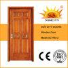 Puerta moderna de madera sólida de la flor decorativa (SC-W012)