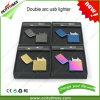 담배 전기 금속 USB 재충전용 두 배 아크 라이트 선물