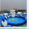 Equipamento do parque da água/corrediça inflável com associação redonda/castelo inflável, parque da água