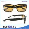 Nuovi occhiali di plastica alla moda dell'iniezione dell'OEM con il blocco per grafici nero di Snowflak