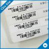Etiqueta de papel de recubrimiento brillante etiqueta de código de barras para la ropa / Textil para el hogar