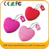 Movimentação da pena do coração da movimentação do flash do USB da forma do coração (POR EXEMPLO 066)