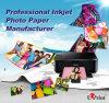 Double papier Mouler-Enduit lustré latéral journalier de photo de jet d'encre