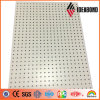 Ideabond 1220*2440mm White Color Aluminum Perforated Facade Panel con Punching