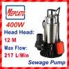 Bomba del sumergible del drenaje del agua de aguas residuales