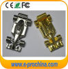 Plata y coche de carreras de oro USB Flash Drive F1 coche de metal de memoria flash USB 16GB (EM553)