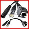 Cat5 Female Cable와 DC Female Power Cord & Poe Cable를 가진 Poe Splitter Cable