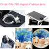 Circle universal Clip 180 Degree Fisheye Lens para Cellphone (F2)