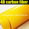 Price all'ingrosso Car Wrapping Fashion Yellow 4D Carbon Fiber Vinyl Film From Factory