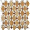 Polished плитка мозаики камня стены Onyx меда диаманта