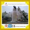 Fontana di acqua rotonda di Dancing dello stagno con la statua di pietra della colonna