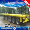 중국 제조자 2 차축 또는 반 3개의 차축 20feet 40FT 45FT 53FT 평상형 트레일러 콘테이너 포좌 트레일러