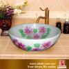 Lavandino di ceramica della stanza da bagno dei bacini variopinti cinesi di arte