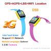 3G WiFi 접촉 스크린 유행 아이들 GPS 추적자 시계 (D18)