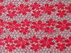 Tessuto del ricamo del Sequin di disegno del fiore della prugna