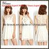 2015 европейское и американское Style Fashional Ladies Round Neck Sleeveless Hollow вне милое Dress с Printing (SK481)